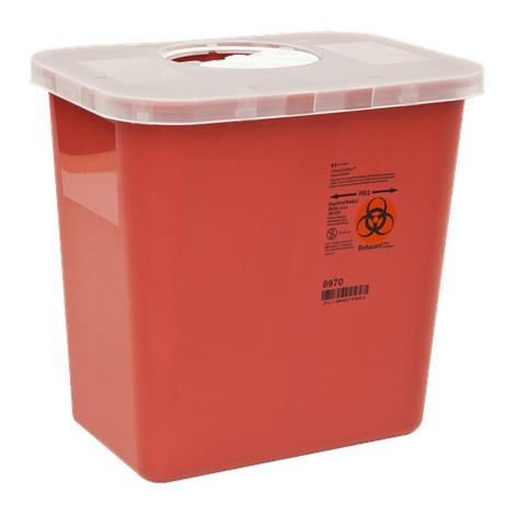 "Covidien Kendall Multi Purpose Sharp Container,0.5 Gallon,Needle Syringe Collection Container,4.5""H x 4.75""D x 4.75""W,60/Case,8920SA"