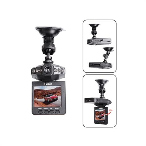 Naxa Portable HD Dash Cam With LCD Monitor,Dash Camera Monitor,Each,NCV-6001