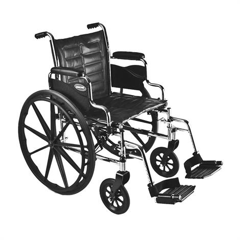 "Invacare Tracer EX2 20"" x 16"" Frame with Permanent Arm Silver Vein Wheelchair,Seat 20""W x 16""D,Each,TREX20PP"