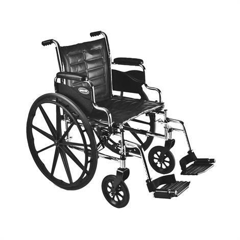 "Invacare Tracer EX2 20"" x 16"" Removable Desk Length Arm Wheelchair,20"" x 16"",Each,TREX20RP"