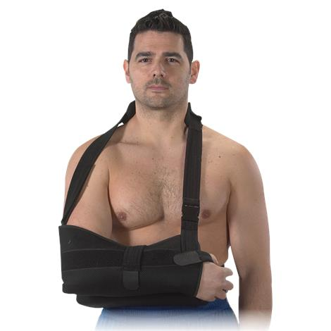 Bilt-Rite Black Shoulder Immobilizer With Abduction Pillow,One Size Fits All,Each,10-59220