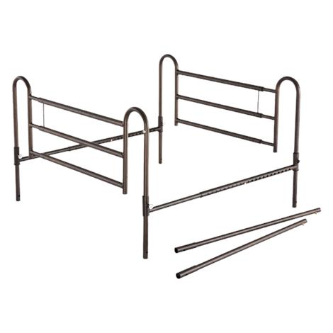 """Essential Medical Powder Coated Home Bed Rails with Extender,39""""L x 25""""W x 4.5""""H,Each,P1460"""