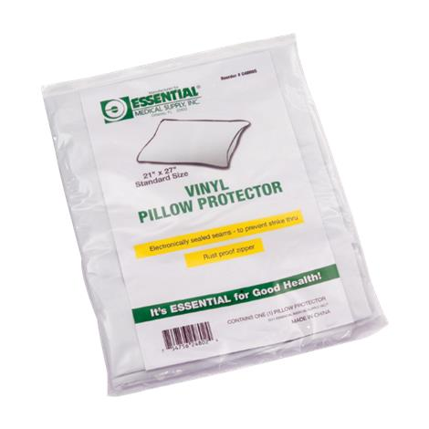 "Essential Medical Zippered Vinyl Pillow Protector,King,21""L x 37""W x 3""H,Each,C4800K"