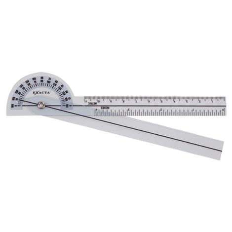 "Exacta Clear Plastic 180 Degree Goniometer,6"" (15cm),Each,NC70100"