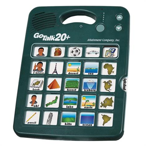 GoTalk 20+ Communicator,Without Overlay Software,Each,GT-20W