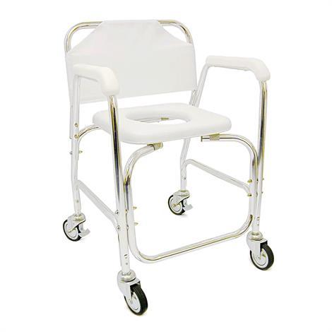 """Mabis DMI Shower Transport Chair,Seat 16""""W x 16""""D,Each,522-1702-1900"""