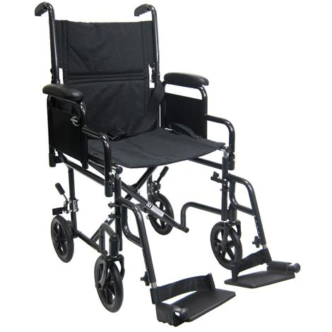 Karman Healthcare T-2700 Transport Wheelchair With Removable Armrest and Footrest,0,Each,0