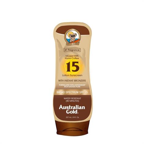 Australian Gold Sunscreen Lotion with Bronzer,SPF 15,8 oz,Each,A70663