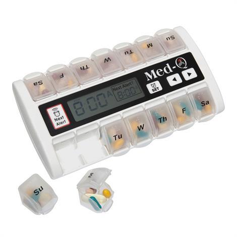 Med-Q Automatic Pill Dispenser,Automatic Pill Dispenser,Blue,Each,HC-MEDQ-BL