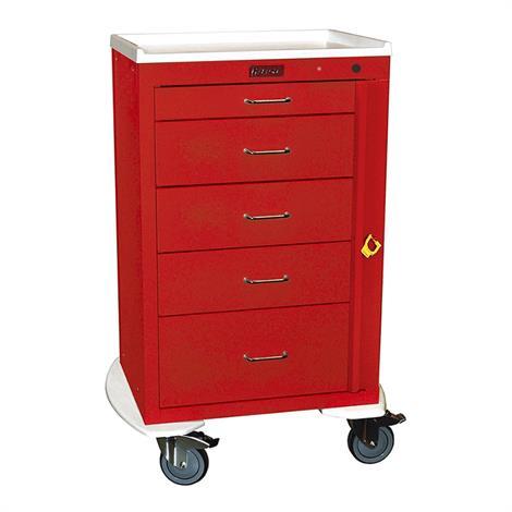 Harloff Five Drawer 24 Inch Mini Emergency Cart With Breakaway Lock,Navy,Each,4255B-NY