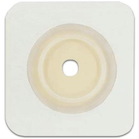 Genairex Securi-T Two-Piece Flat Standard Cut-To-Fit White Solid Hydrocolloid Skin Barrier,10/Pack,7404134