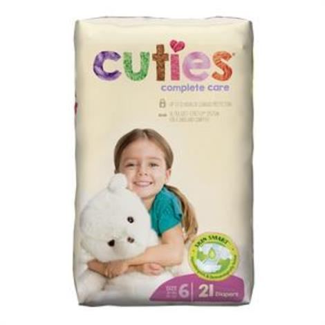 First Quality Cuties Complete CareDiaper,Size 1, 8 to 14 lb,48/Pack, 4/Case,CCC01