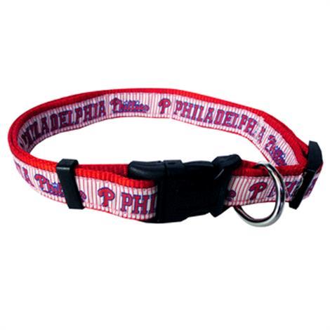 First Philadelphia Phillies Ribbon Dog Collar,Large,Each,PHP-3036