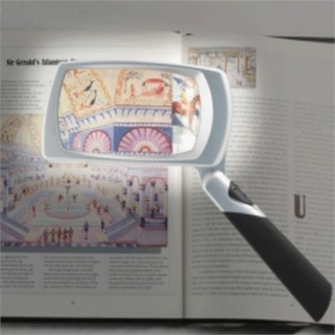 North Coast Medical Lighted Folding Magnifier,2 x 3 (5.1 x 7.6cm),Each,NC28839