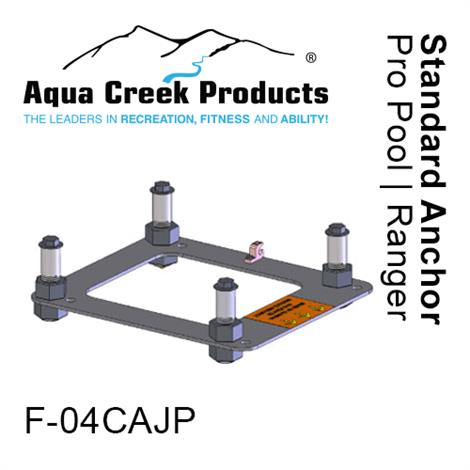 """Aqua Creek Pathfinder,Pro Pool and Ranger Lift Anchor,Anchor kit,Pavers,4-point with Jig and 8"""" Inserts,Each,F-08CAJP"""