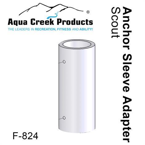Aqua Creek Scout Pool Lift Anchor,Anchor Sleeve,Bronze,2.75 x OD x 1.95 ID (HOY),Each,F-826