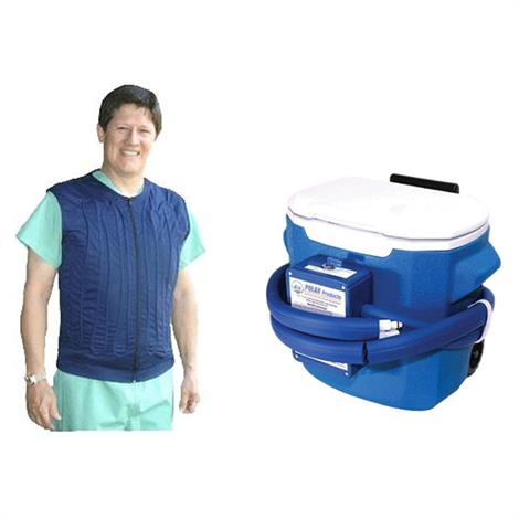 Polar Cool Flow Body Cooling Fitted Vest System with Cooler,0,Each,0