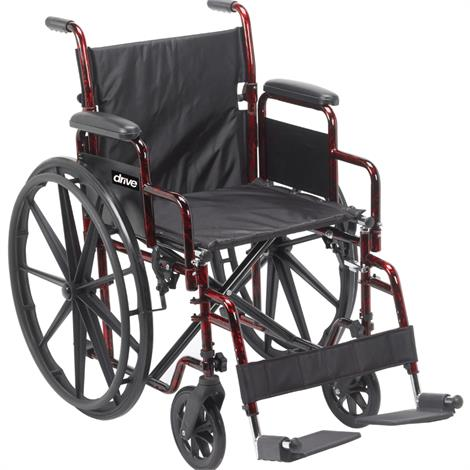 "Drive Rebel Lightweight Folding Transportable Wheelchair,Seat 18""W x 16""D,Each,RTLREB18DDA-SF"
