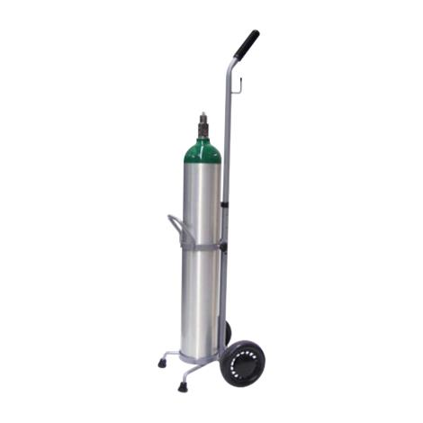 "Responsive Respiratory Single�D And E�Cylinder�Cart,6"" Wheels,Each,150-0100 RRI150-0100"