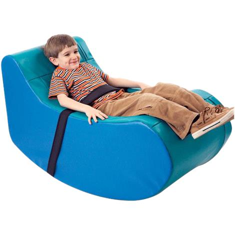 "FlagHouse Children Soft Rocker,42"" L x 20"" W x 24"" D,Blue,Each,37938"