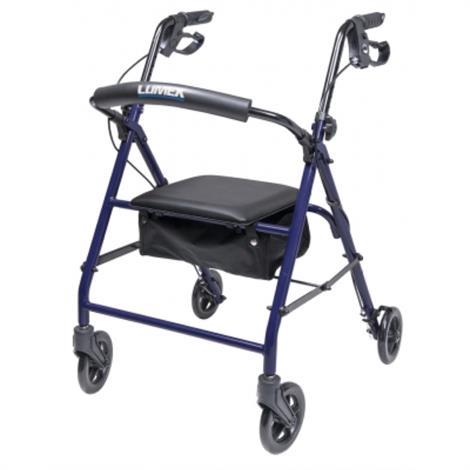 Graham-Field Lumex Walkabout Essentials Four Wheel Rollator,Blue,Each,RJ5000B