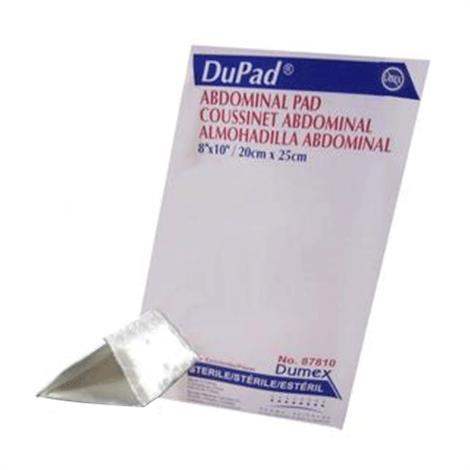 """Derma Sciences Dupad Abdominal Pads,8"""" x 10"""",25/Pack,87810"""