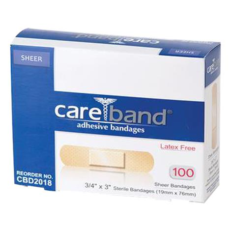 ASO Careband Sheer Adhesive Bandages,0.75 x 3,100/Pack,CBD2018-012