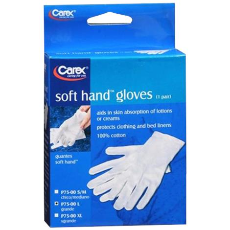 Carex Soft Hands Gloves,Large,Fits Size 9 to 10,2/Pack,FGP75L00 0000