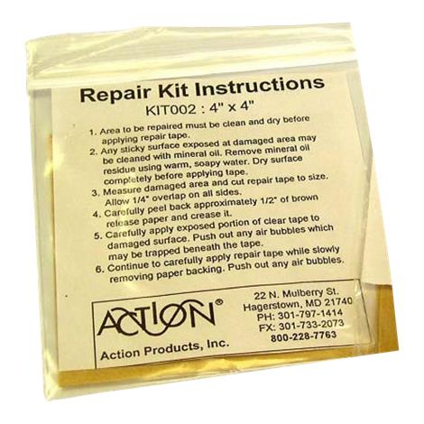 """Action Products Repair Kit for Pads,Repair Patch,4"""" x 4"""" (10cm x 10cm),Each,KIT002"""