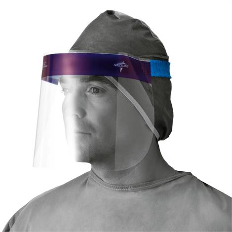 Image of Medline Face Shields,Foam Top and Elastic Band,Full Length,24/BX,NONFS300Z