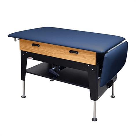 Hausmann Crank Hydraulic Changing Treatment Table With Drawers