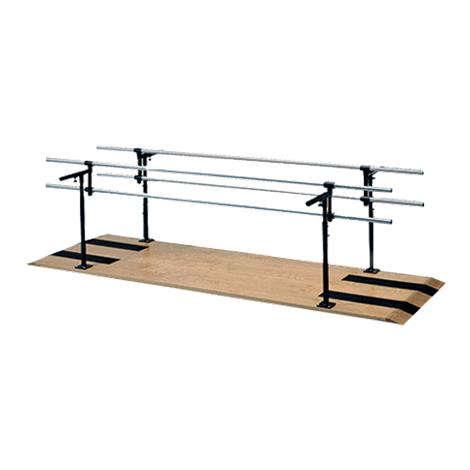 """Hausmann Combination Adult Child Parallel Bars,10ft L x 15""""W to 28""""W x 29""""H to 42""""H,Each,1384"""