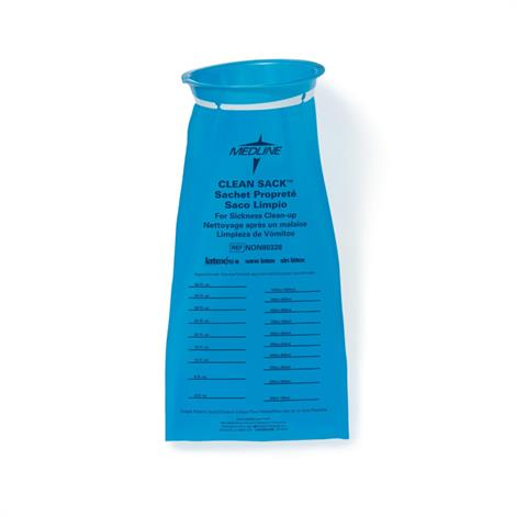 Medline Emesis Bags for Sickness Clean-Up,Clean Sack,Blue,144/Gross,NON80328