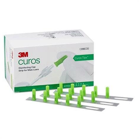3M Curos Tips Disinfecting Cap for Male Luers,Disinfecting Tips Strips,200/Case,CM5-200