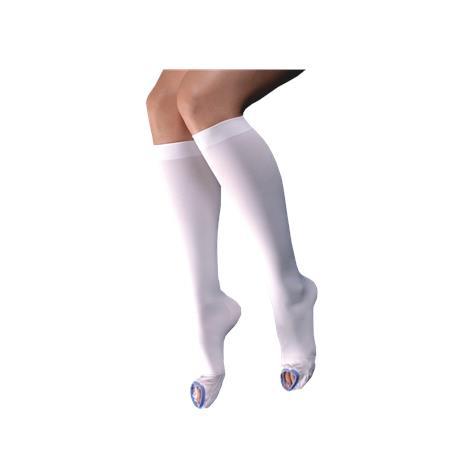 Venosan Open Toe Below Knee Long 12-18mmHg Anti-Embolism Stockings,Large,Pair,SG57005