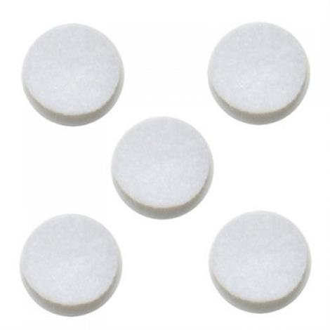 """Omron Replacement Felt Filters For Omron Compressor Nebulizer Systems,1/2"""" Diameter Filter,5/Pack,9930 739930"""