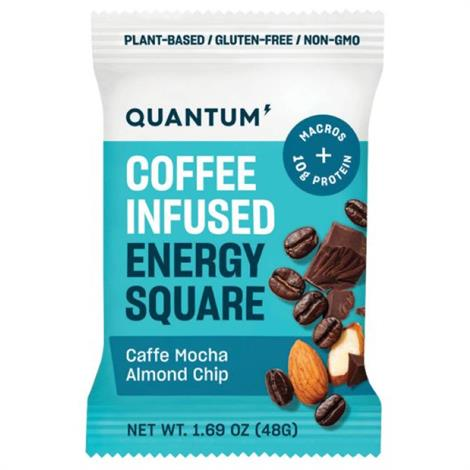 Quantum Coffee Infused Energy Squares,CAFFE MOCHA ALMOND CHIP,10/Pack,5780002