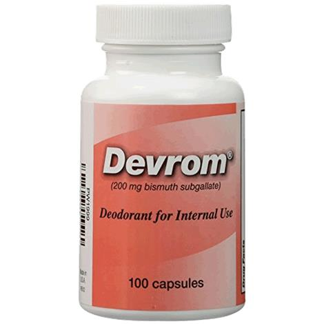 Parthenon Devrom Internal Deodorant Capsules,100 Capsules Per Bottle,12/Case,P1999