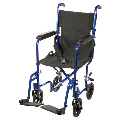 "Drive Aluminum Transport Chair With Swing-Away Footrests,17""W,Black,Each,ATC17-BK"