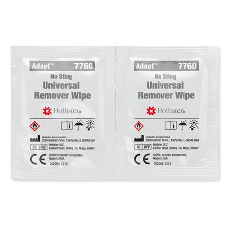 Hollister Adapt Universal Adhesive Remover Wipes,Wipes,50/Pack,12Pk/Case,7760
