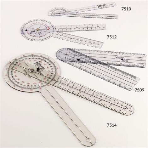 """Economy Jamar Transparent Plastic Goniometers,6-3/4"""" Goniometer,Each,7510"""