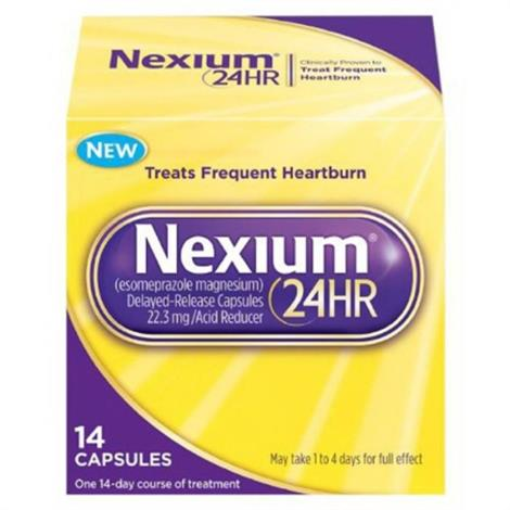 Nexium 24HR 20 mg Frequent Heartburn Protection Capsules,14 Capsules,Bottle,Each,2031706
