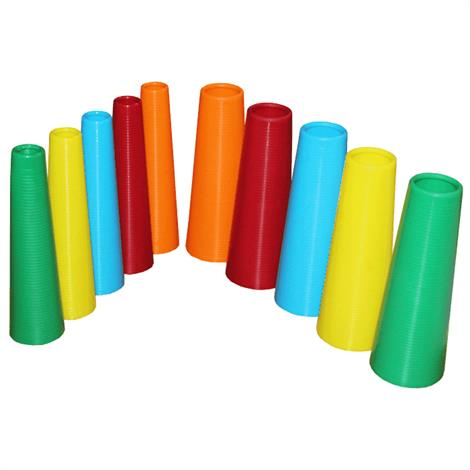 """Plastic Stacking Cones,Large,7"""",30/Pack,#847102003108"""