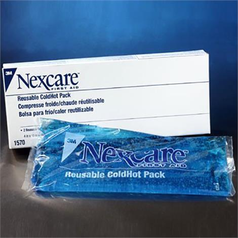 """3M Nexcare Reusable Cold Hot Pack with Covers,4"""" x 10"""",2/Pack,1570"""