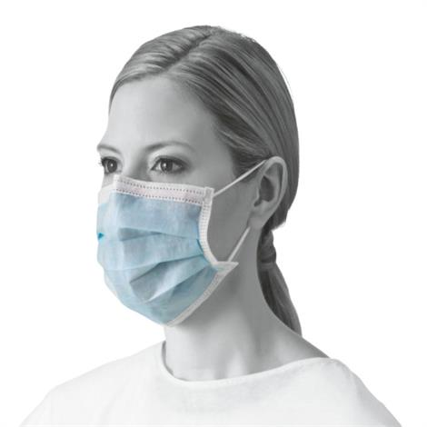 Image of Basic Procedure Face Masks with Earloops,Blue,24/Case,MED384