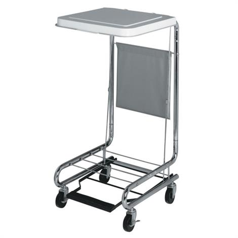 """Medline 18 Inches Hamper Stands,Hamper Stand with Foot-Pedal Metal Lid for 20"""" W x 18"""" L x 38"""" H,Each,MDS80529"""