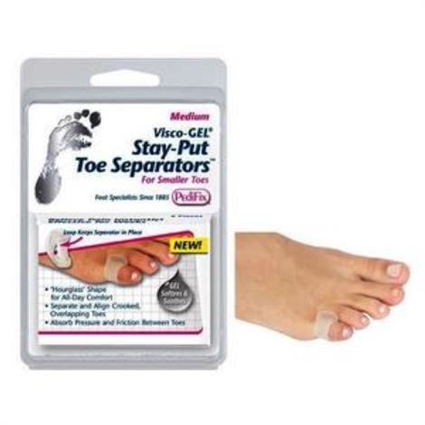 Pedifix Visco-Gel Stay-Put Toe Separators,Medium,2/Pack,P26-M