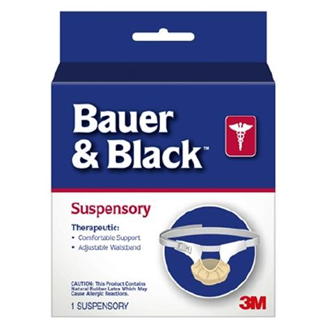 3M Bauer & Black Scrotal Support Suspensory Without Leg Straps,Large - (Size 0 to 16),Each,202430