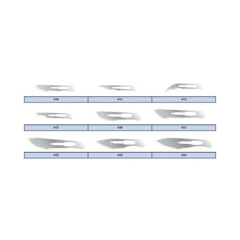 Graham-Field Feather Sterile Surgical Blades,Stainless Steel,Size 10,100/Box,2976#10