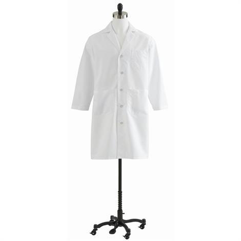 Medline Mens Full Length Lab Coats,Size: 34,Each,MDT14WHT34E